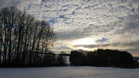 Grande cielo Fotografia Stock
