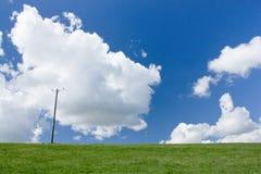 Grande cielo sui bassi del sud, Telscombe, East Sussex, Regno Unito immagini stock
