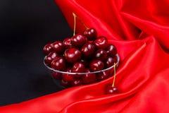 Grande ciliegia rossa Immagini Stock Libere da Diritti