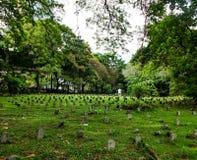 Grande cimitero dell'erba verde Immagine Stock Libera da Diritti