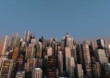 Grande città Fotografia Stock Libera da Diritti