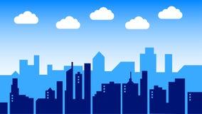 Grande città Immagini Stock Libere da Diritti