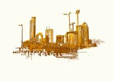 Grande città Immagini Stock