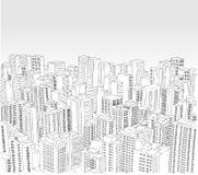 Grande città in bianco e nero