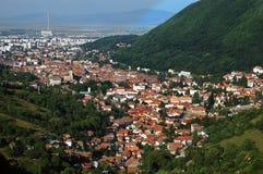 Grande città della montagna Fotografia Stock