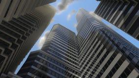 Grande città di mattina Fotografie Stock Libere da Diritti
