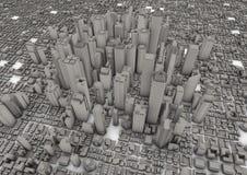 Grande città grigia Fotografia Stock