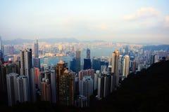 Grande città Hong Kong, Cina Immagine Stock