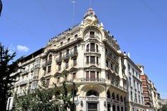 Grande città storica di Granada dell'Spagna-Andalusia, Città Vecchia Fotografie Stock Libere da Diritti