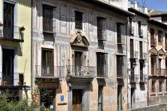 Grande città storica di Granada dell'Spagna-Andalusia, Città Vecchia Immagini Stock Libere da Diritti