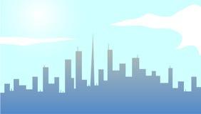 Grande città un giorno soleggiato Fotografia Stock Libera da Diritti
