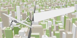Grande città con le costruzioni Immagini Stock Libere da Diritti