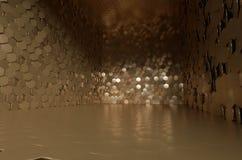 Grande cofre-forte com placas douradas Foto de Stock