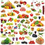 Grande coleção das frutas e legumes saudáveis Foto de Stock