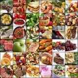 Grande collage dell'alimento Fotografia Stock Libera da Diritti