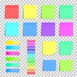 Grande collection d'autocollants Papiers de note colorés Photo stock