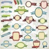 Grande collection d'emblèmes de vintage illustration de vecteur