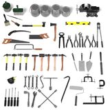 Grande collection d'outils Image stock