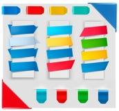 Grande collection de drapeaux colorés de papier d'origami illustration de vecteur