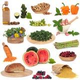 Grande collection de nourriture Images libres de droits
