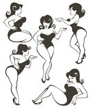 Grande collection de pin-up illustration libre de droits