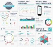 Grande collection infographic d'éléments de vecteur pour visualiser des données Images libres de droits