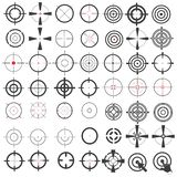 Grande collection même d'icônes, symboles, dispositifs de visée, cible, portée de tireur isolé Isolement sur un fond blanc illustration de vecteur