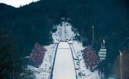 Grande collina in Zakopane Fotografie Stock Libere da Diritti