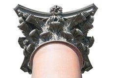 Grande colonna di marmo e di bronzo della cattedrale di Isaac del san Fotografia Stock Libera da Diritti