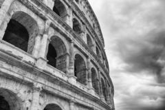 The Colosseum is the largest amphitheater in the world, located in the city center of Rome. Colosseum is the largest amphitheater in the world, located in the royalty free stock image