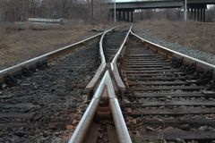 Grande commutatore ferroviario Fotografia Stock Libera da Diritti