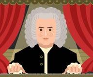 Grande compositore tedesco di musica classica nella fase del teatro Fotografia Stock