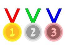 Grande conception des médailles pour des accomplissements sportifs Photos libres de droits