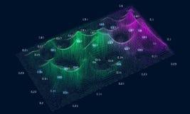 Grande concetto astratto di dati Complessità futuristica di progettazione di infographics Analisi dei dati visiva di informazioni illustrazione di stock