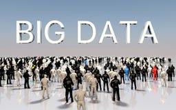 Grande concetto di dati Immagine Stock