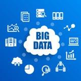 Grande concetto di dati illustrazione di stock