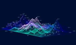 Grande concetto di dati dell'estratto 3D Progettazione futuristica di infographics Analisi dei dati visiva di informazioni di aff illustrazione vettoriale