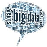 Grande concetto di dati in nuvola di parola Immagini Stock Libere da Diritti