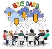 Grande concetto di download della base di dati di archiviazione di dati Fotografia Stock