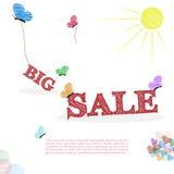 Grande concetto di vendita nello stile di scarabocchio Fotografia Stock Libera da Diritti