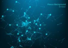 Grande concetto di visualizzazione della rete di trasmissione di dati Industria musicale di Digital, fondo di vettore di scienza  illustrazione di stock