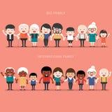Grande concetto 'nucleo familiare' Immagini Stock