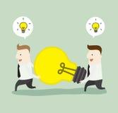 Grande confrontare le idee di idea Immagine Stock Libera da Diritti