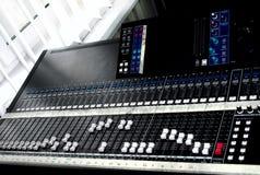Grande console de mistura Foto de Stock Royalty Free