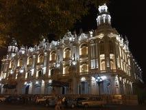 Grande construção do teatro em Havana fotografia de stock