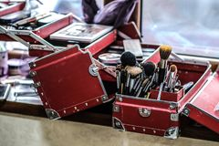 Grande contenitore professionale di contenitore di trucco Fotografia Stock