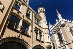 Grande cooperativa gotica, Riga, Lettonia Immagine Stock Libera da Diritti