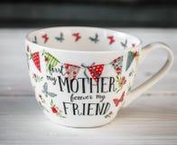 Grande copo bonito para o dia e o 8 de março de mãe Imagem de Stock Royalty Free