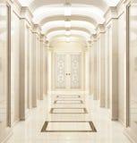 Grande corredor em um estilo clássico fotografia de stock