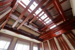 Grande corridoio dell'istituto universitario di Zhejiang Buddha, adobe rgb Fotografia Stock